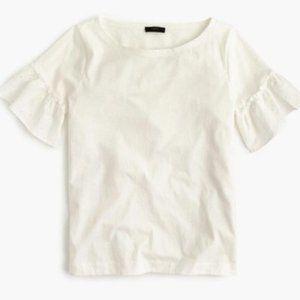 J. Crew Ruffle Sleeve Shirt XL